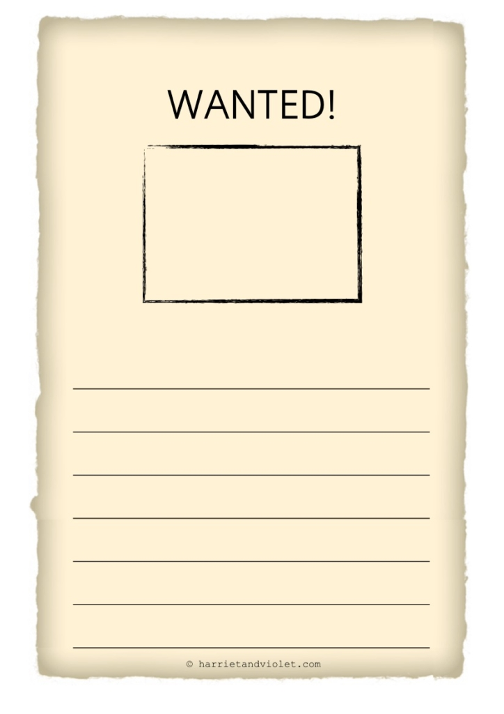 wanted poster template free teaching resources print play learn
