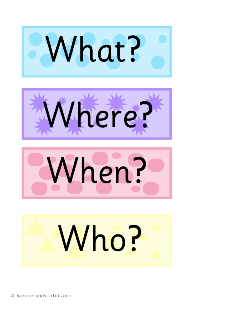 question words on clouds free teaching resources print play learn