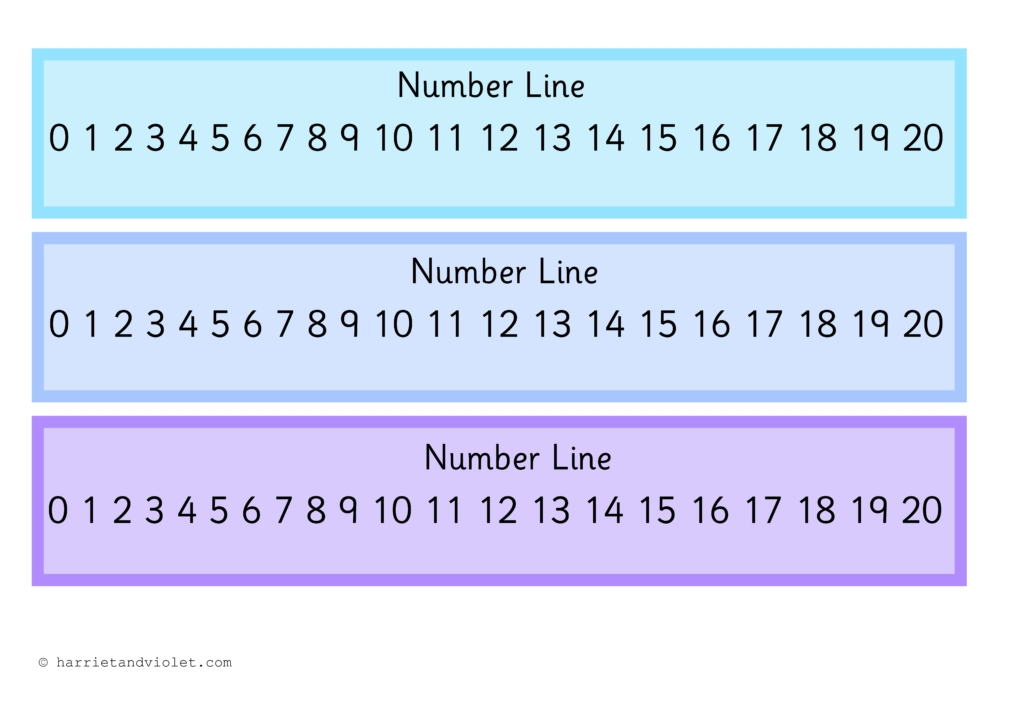 It's just an image of Adorable Printable Number Line to 20