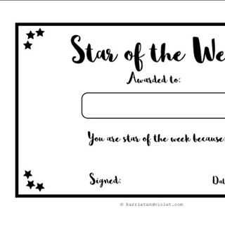 star of the week free printable certificates for the classroom