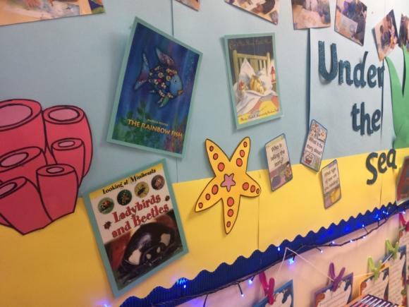 classroom seaside book area