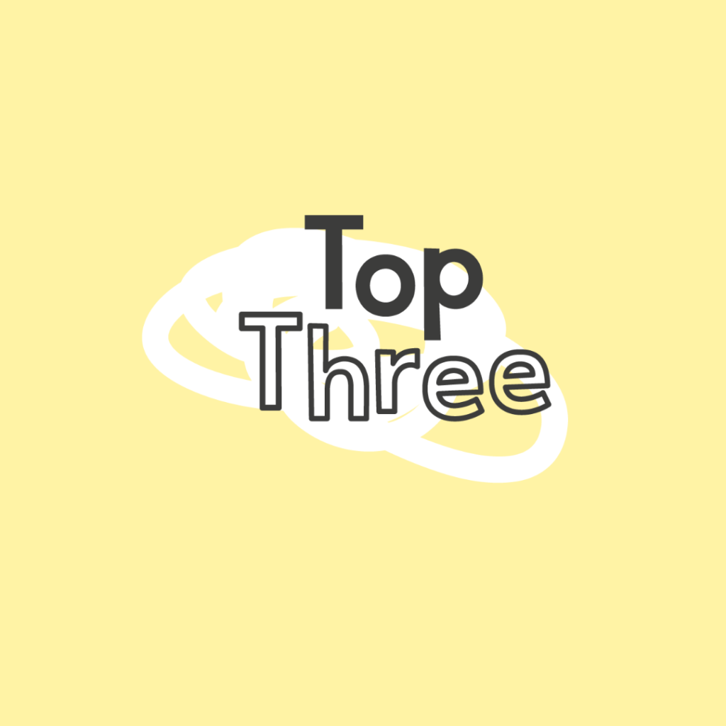 Top Three recommendations