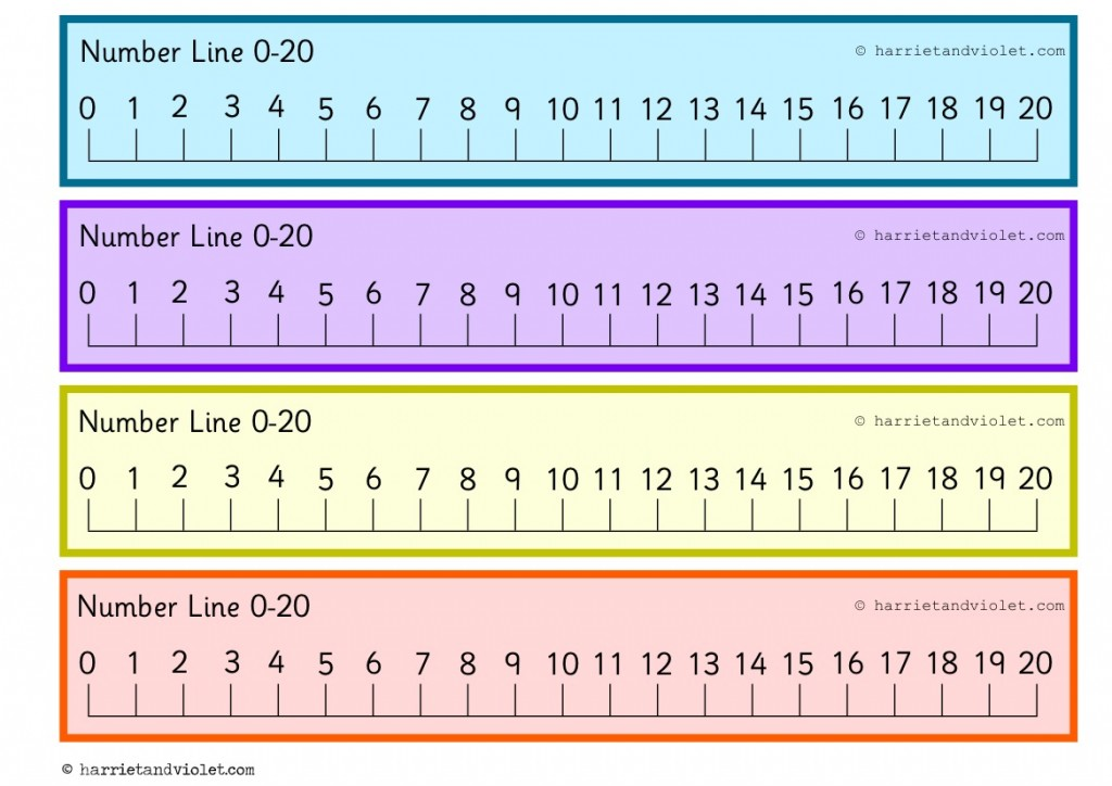 picture regarding Printable Number Line 1-20 known as Selection Line + Quantity Strips - Web page 2 - Cost-free Education