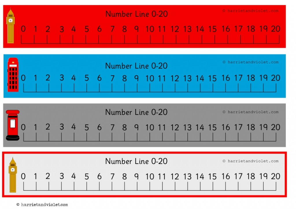 photo relating to Printable Number Lines to 20 identify Beautiful London Amount Line 0 in direction of 20 (0-20 numberline) with
