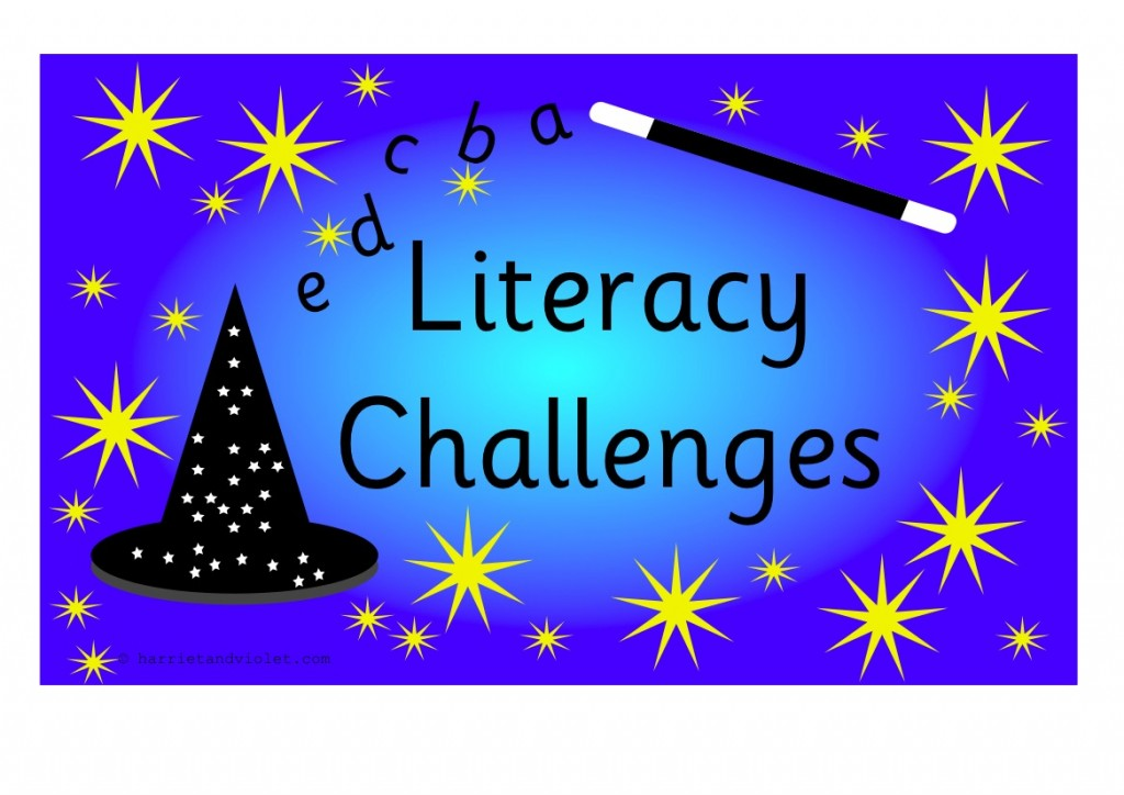 Literacy Challenge Area Cards A4 Landscape! - Free Teaching ...