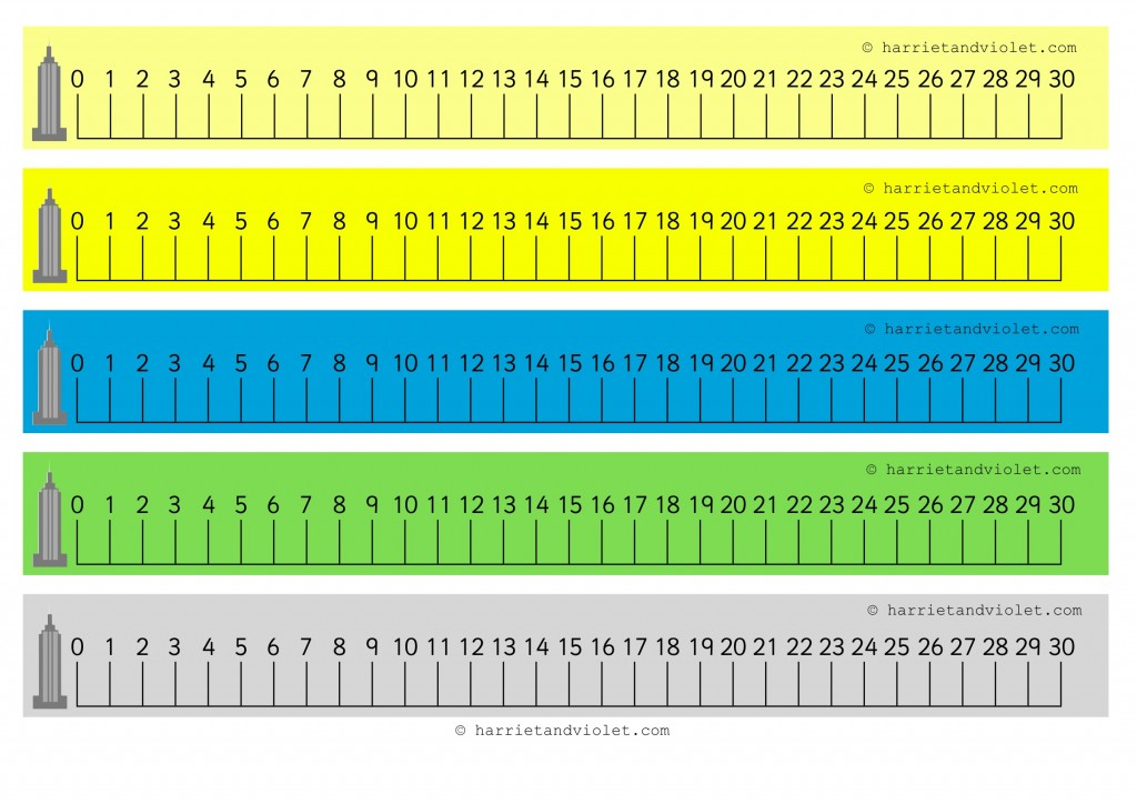 photo regarding Number Line to 20 Printable titled Variety Line + Selection Strips - Web site 2 - Absolutely free Instruction