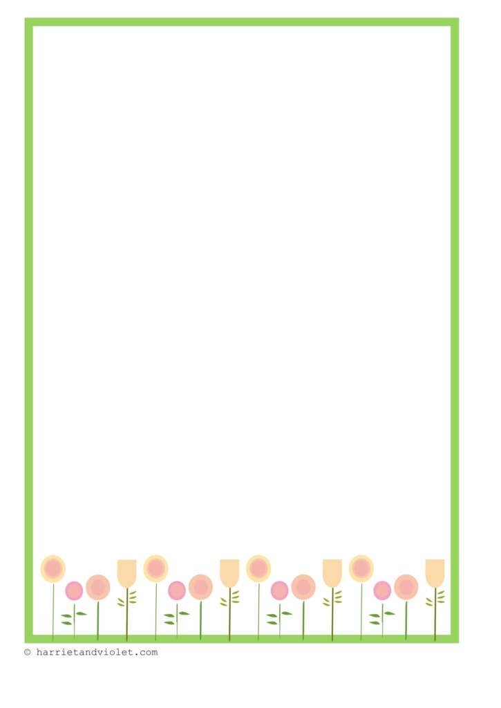 Spring flower border paper free teaching resources print play learn spring flower border paper mightylinksfo