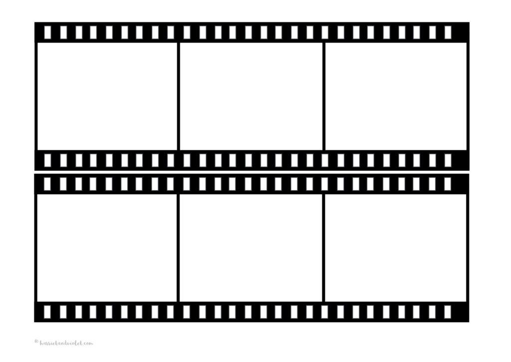 Film strip template free teaching resources print play for Printable film strip template