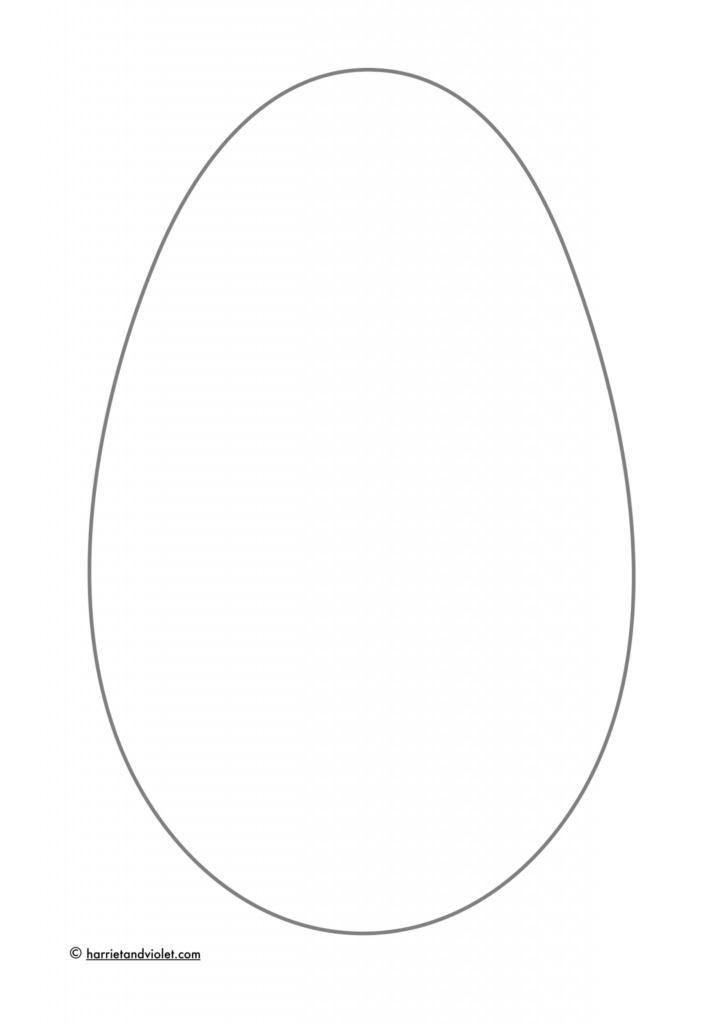 blank easter egg colouring in or design sheet free teaching