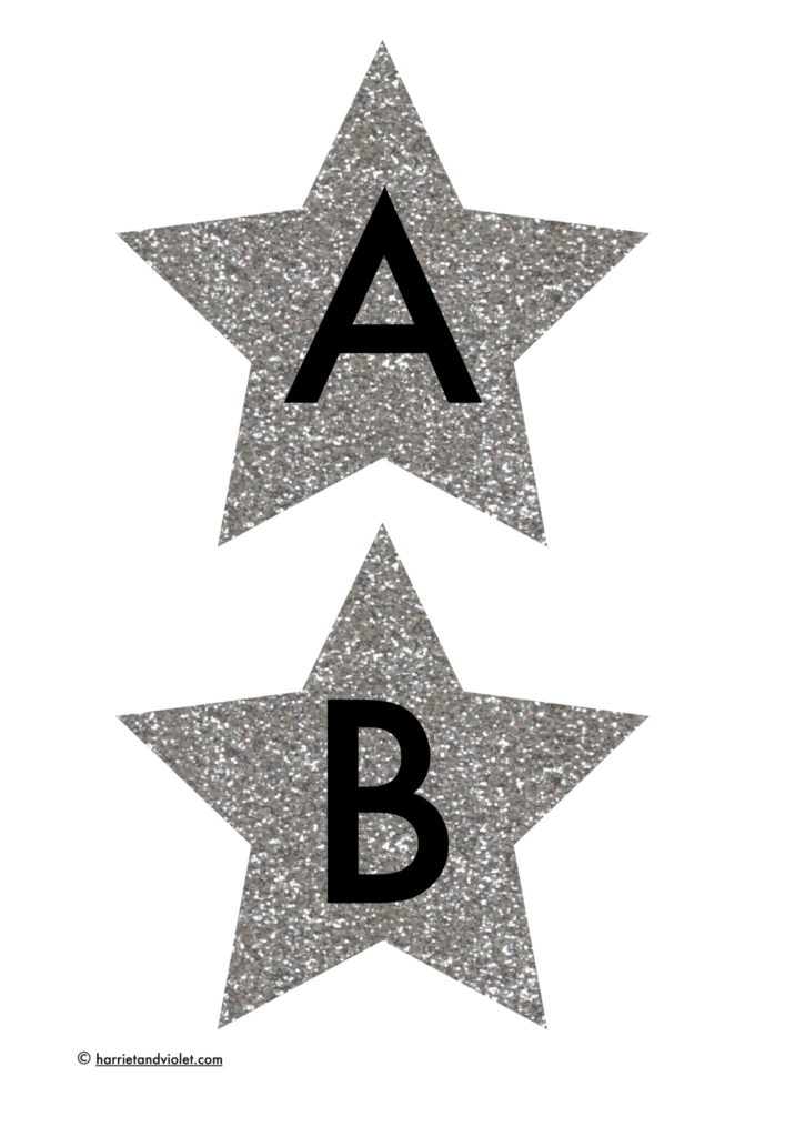 A-Z display lettering glitter baubles - Free Teaching ...
