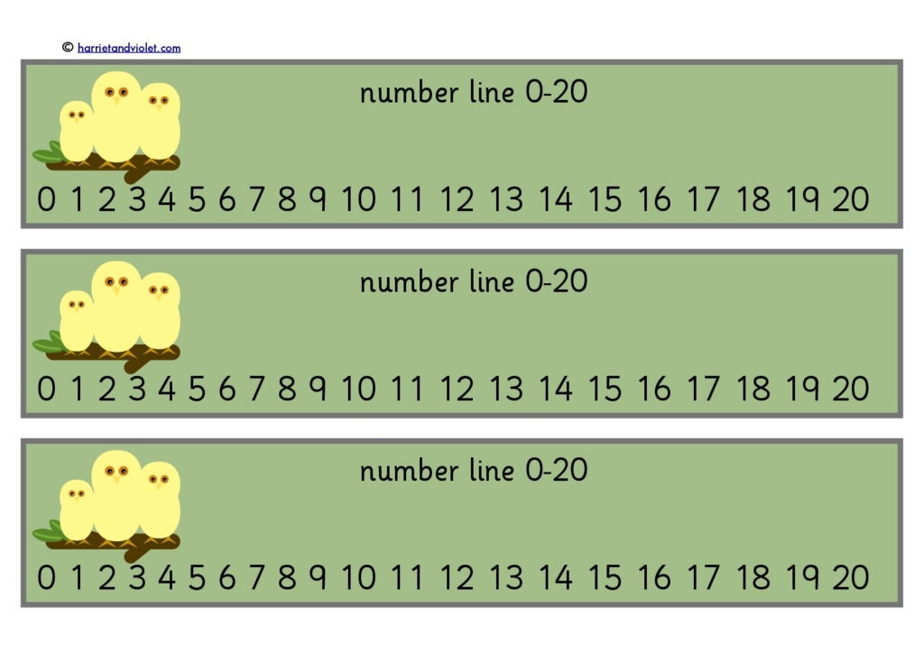 Number line number strips page 1 free teaching for Woodland motors phone number