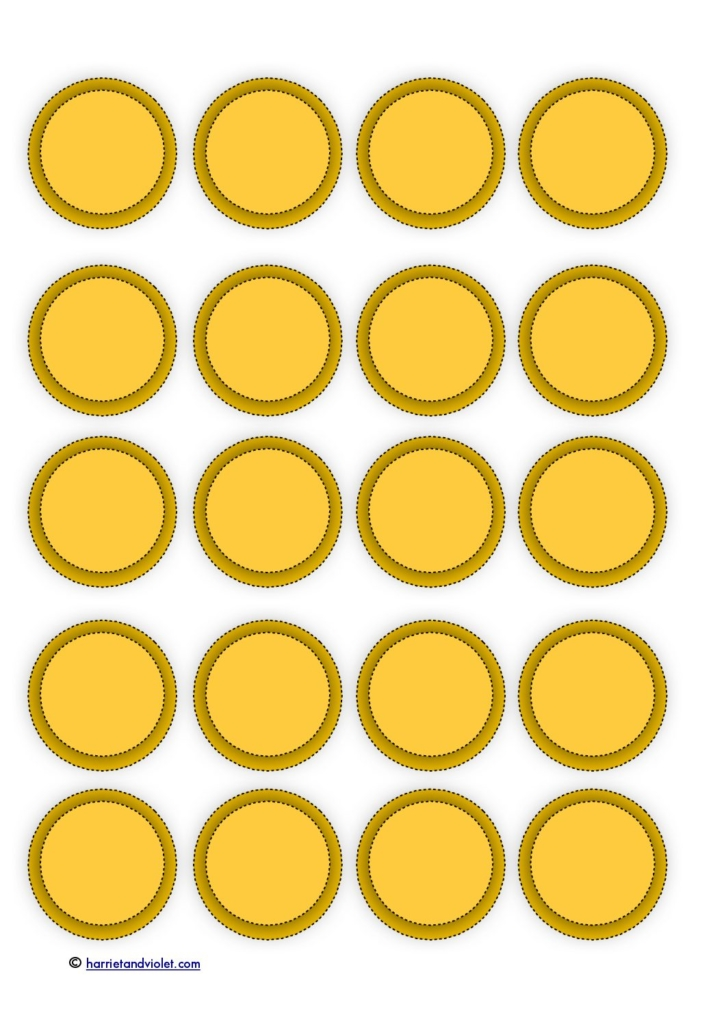 Eloquent image within coins printable