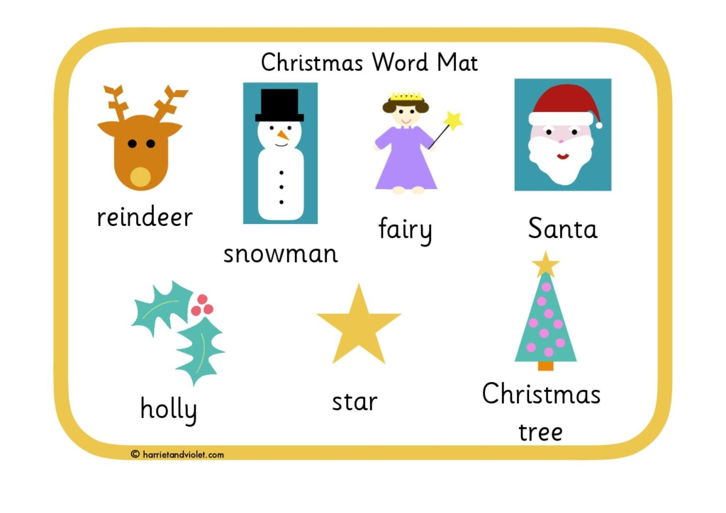Word mat page 1 free teaching resources print play learn christmas word mat ink save spiritdancerdesigns Image collections