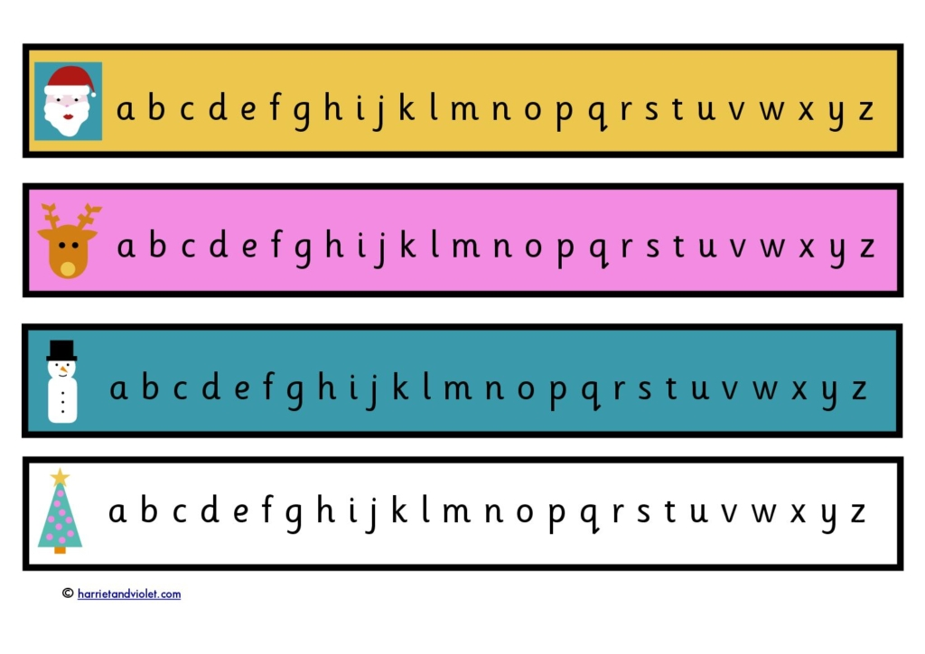 Christmas Alphabet Chart - lower case letters - Free Teaching ...