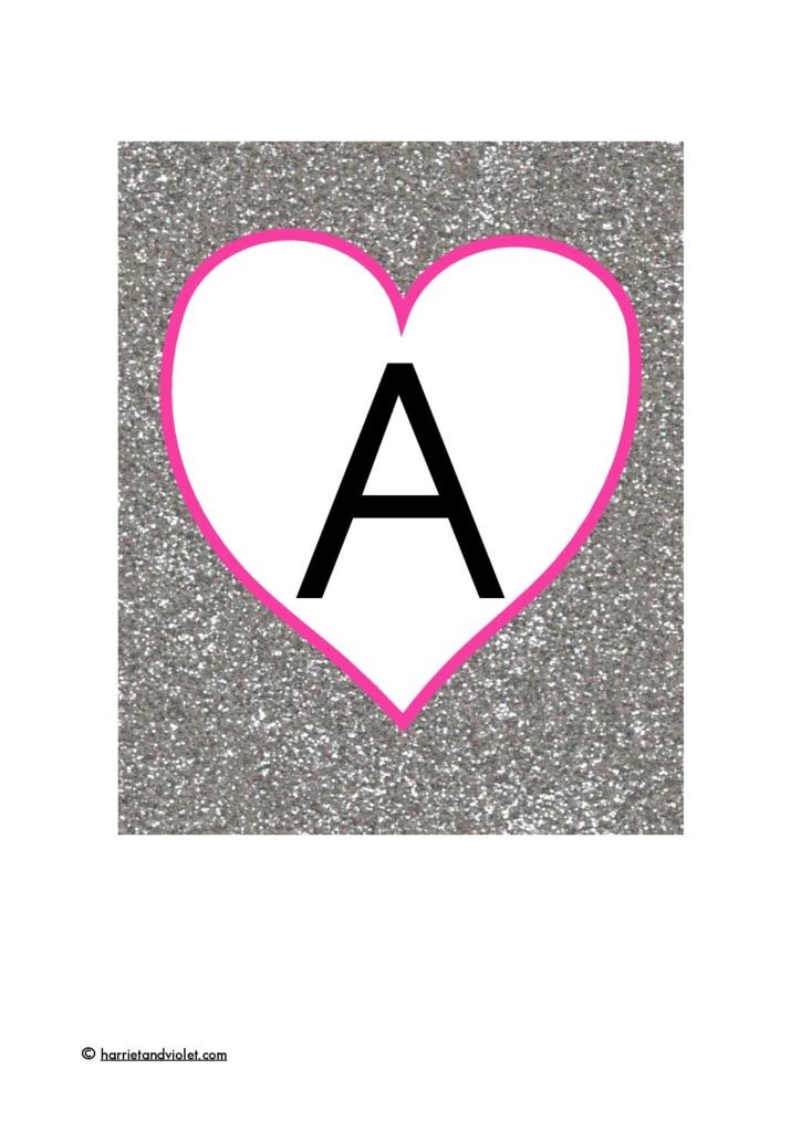 S Alphabet In Heart Heart - Alphabe...