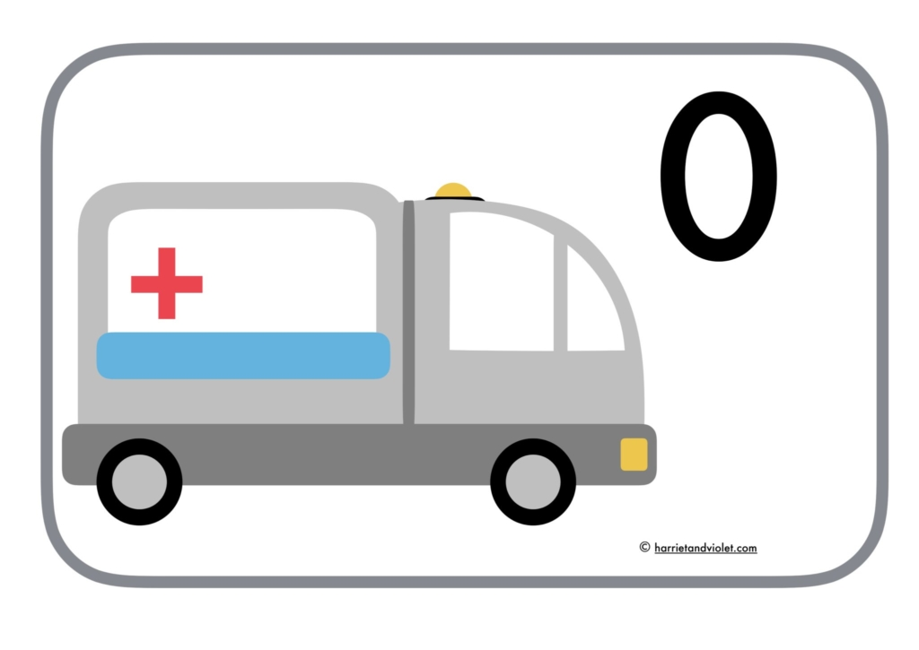 Odd and Even - ambulance display posters - Free Teaching