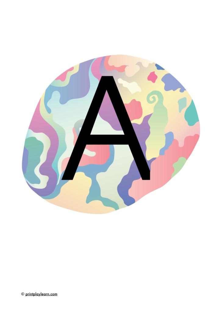 alphabet on crystals