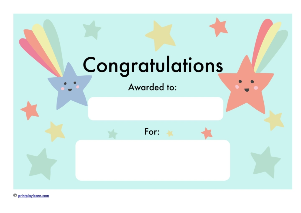 Congratulations Certificate - Free Teaching Resources - Print Play Learn