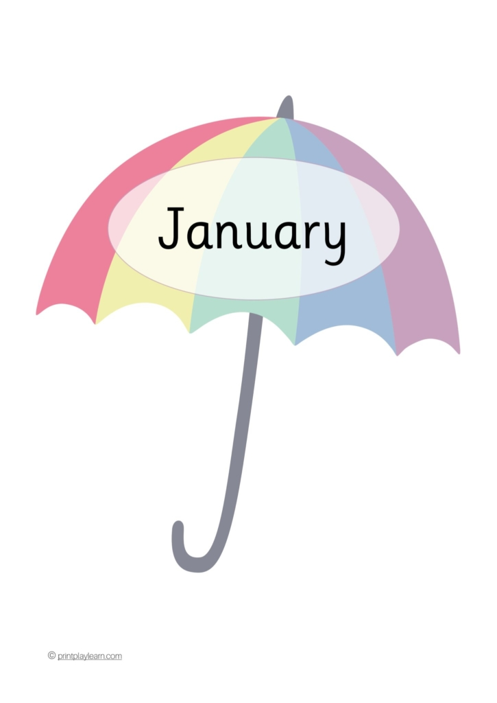 umbrella months of the year