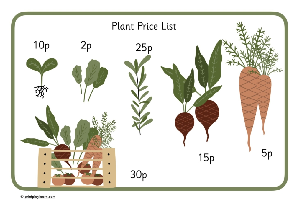 vegetable price list