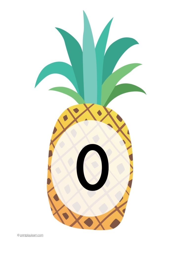 pineapple number line
