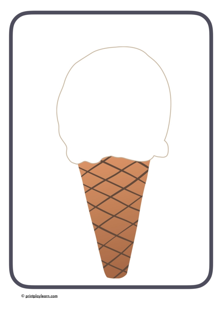 ice cream design sheet EYFS