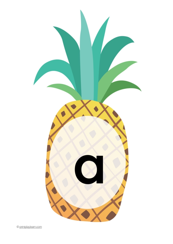 pineapple alphabet lowercase letters