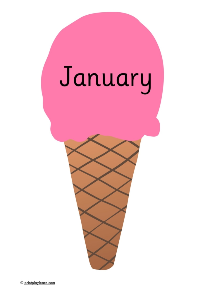 months on ice creams