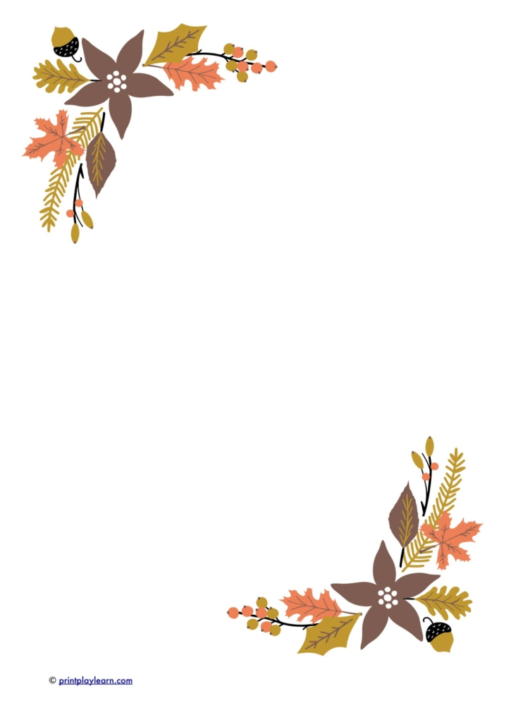 autumn leaf writing paper
