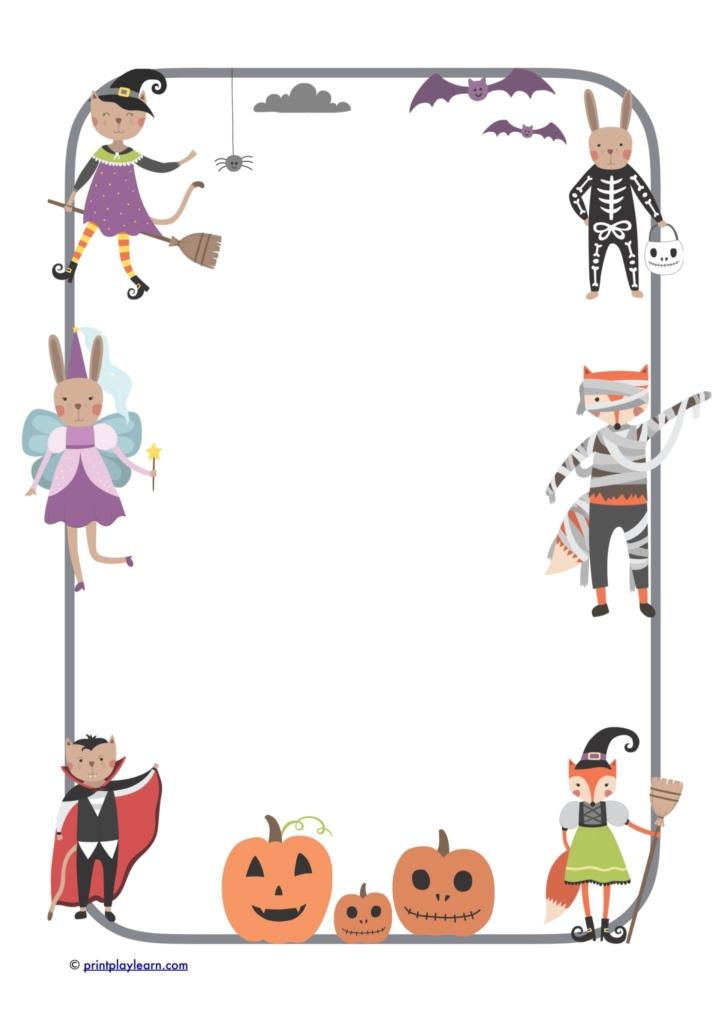 halloween character paper