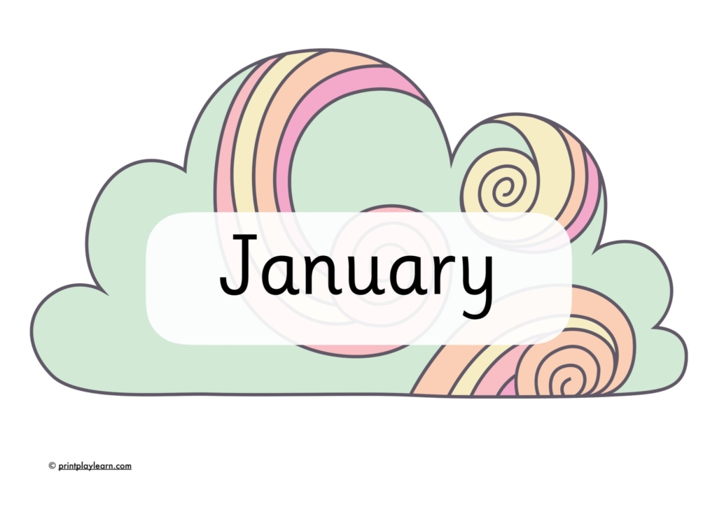 months of the year clouds