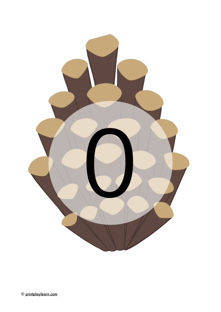 0-30 number line for mud kitchen pinecone
