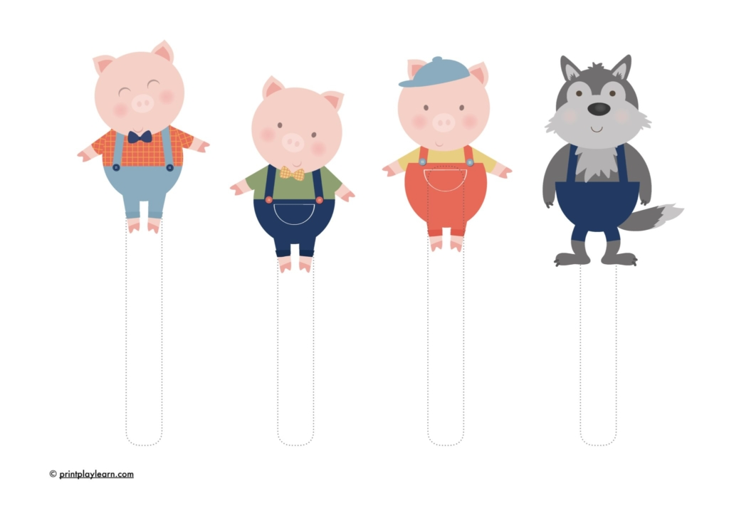 puppets for the three little pigs early years puppets