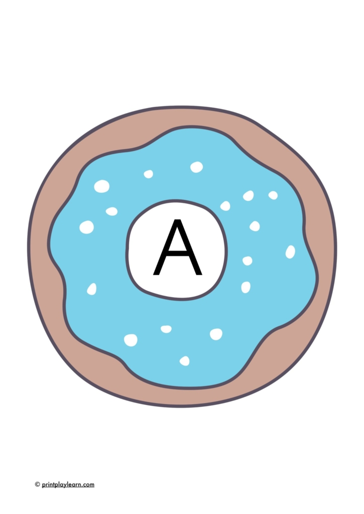 doughnuts display lettering for the classroom alphabet a-z