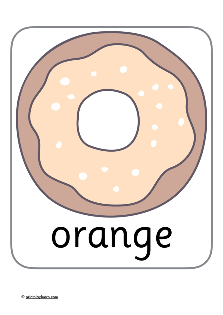 pastel coloured donuts classroom display learn colours eyfs