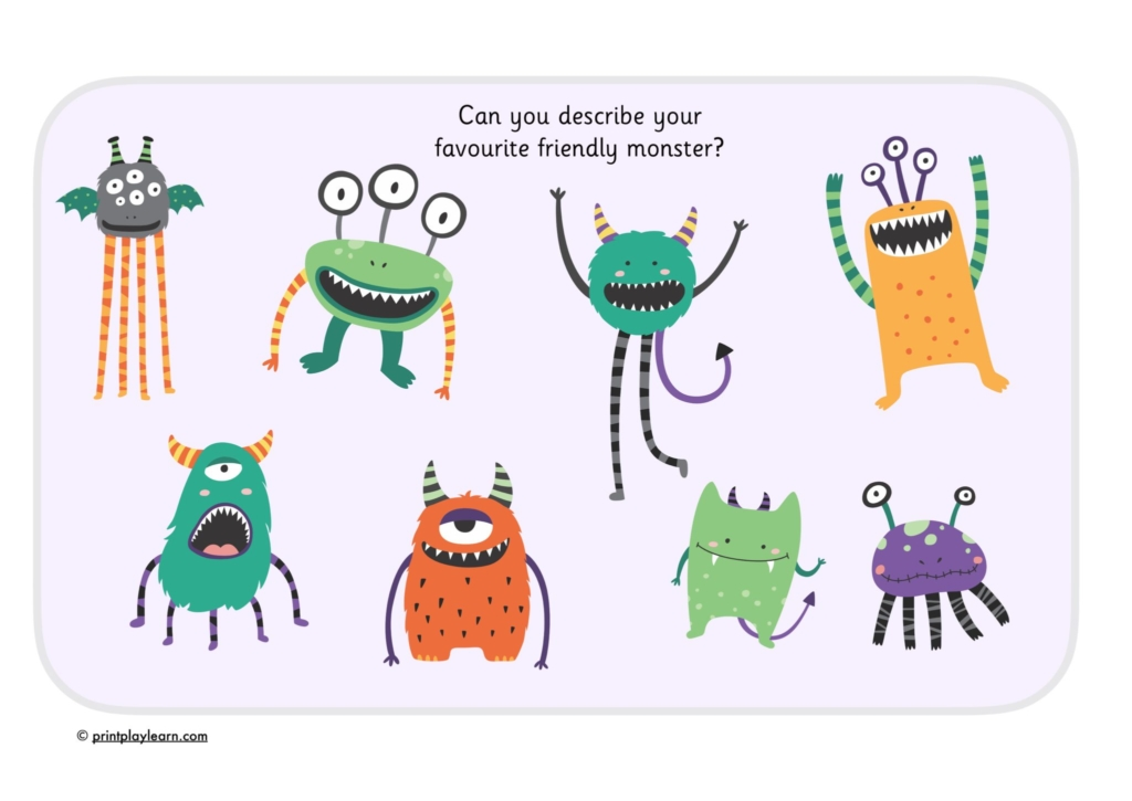 describing monsters for literacy or halloween