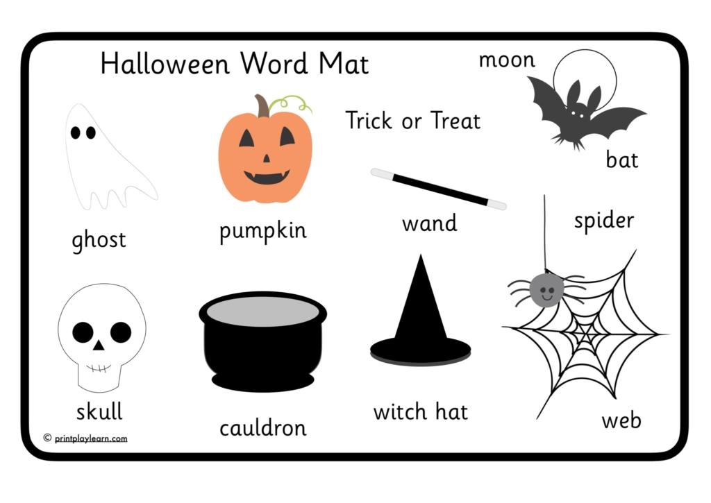 EYFS halloween word mat