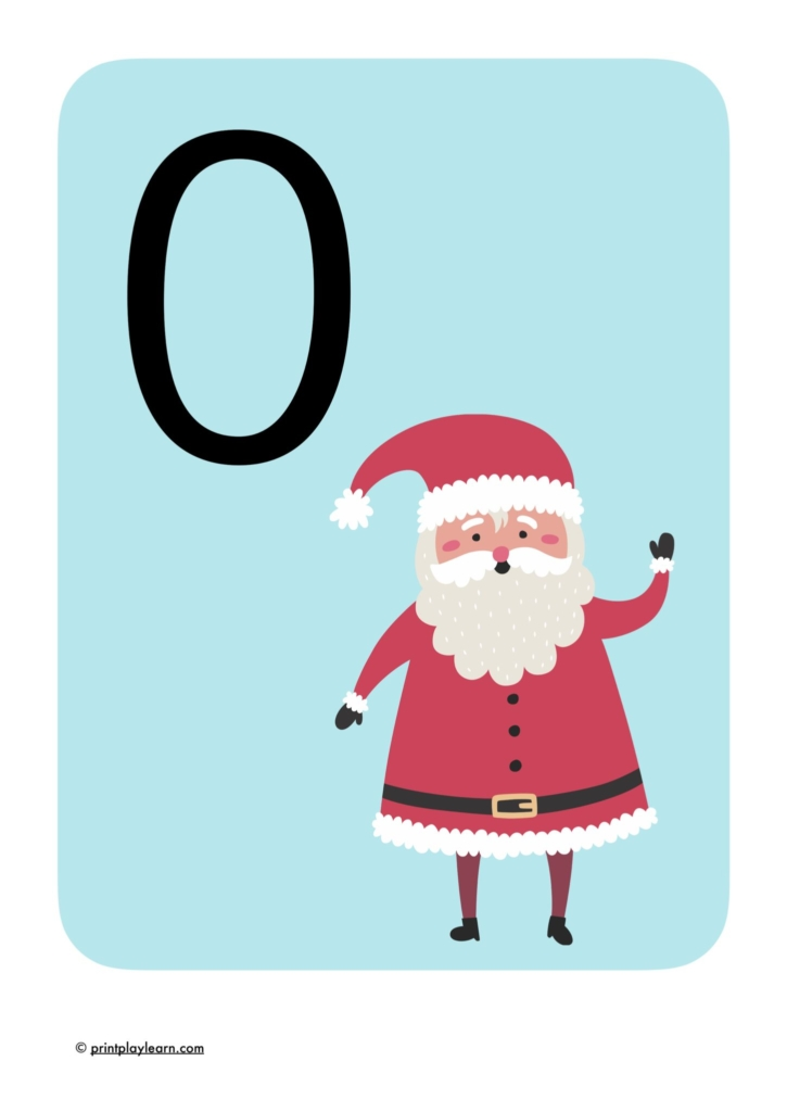 Christmas counting numbers display