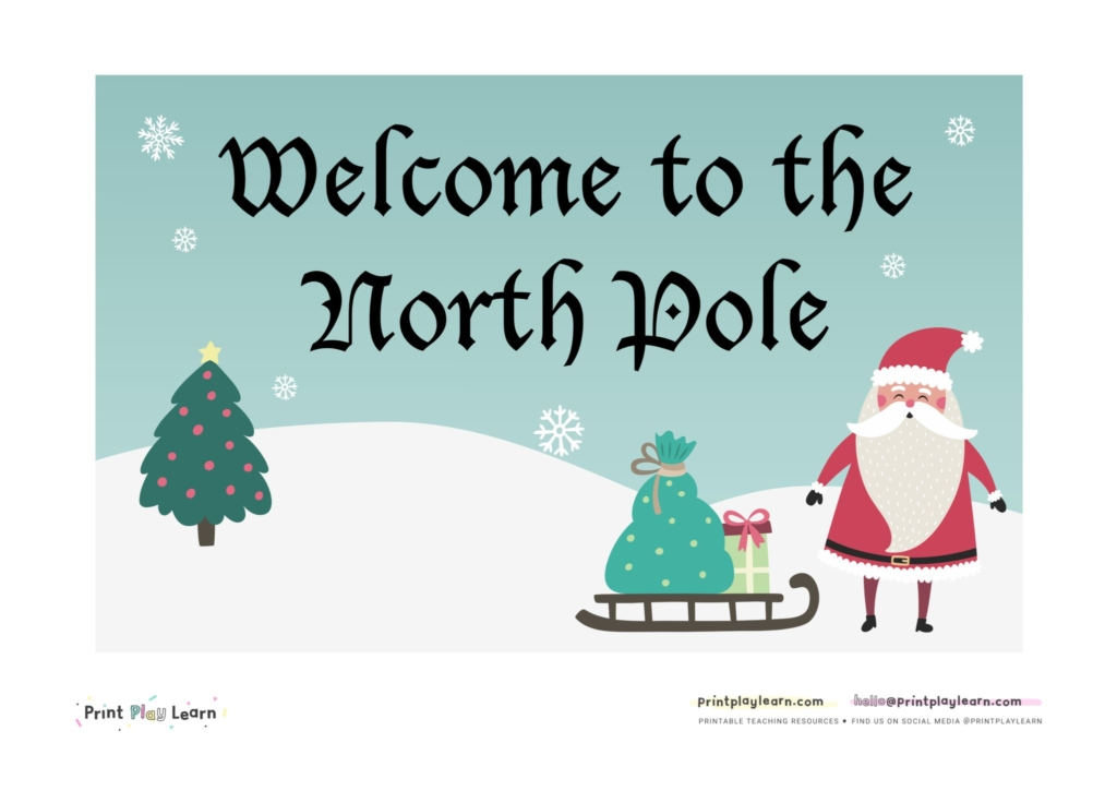 north pole EYFS role play area Christmas