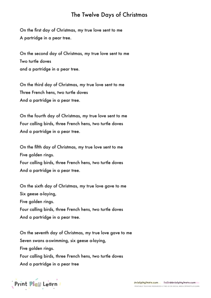 Twelve-Days-of-Christmas-Song-Words-
