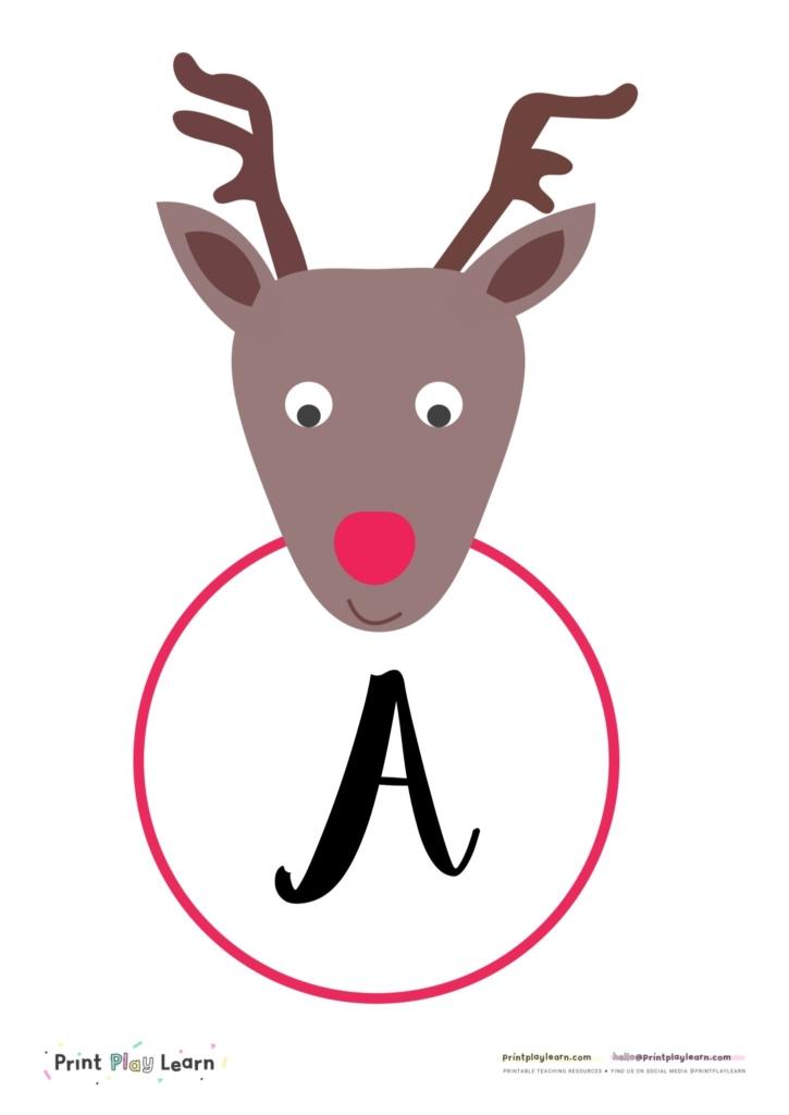 reindeer instant display lettering
