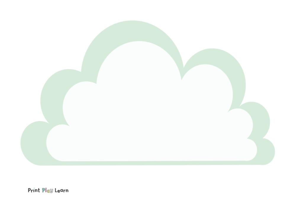cloud writing paper template eyfs