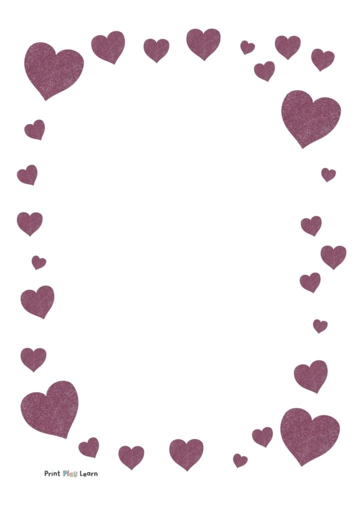 glitter heart paper