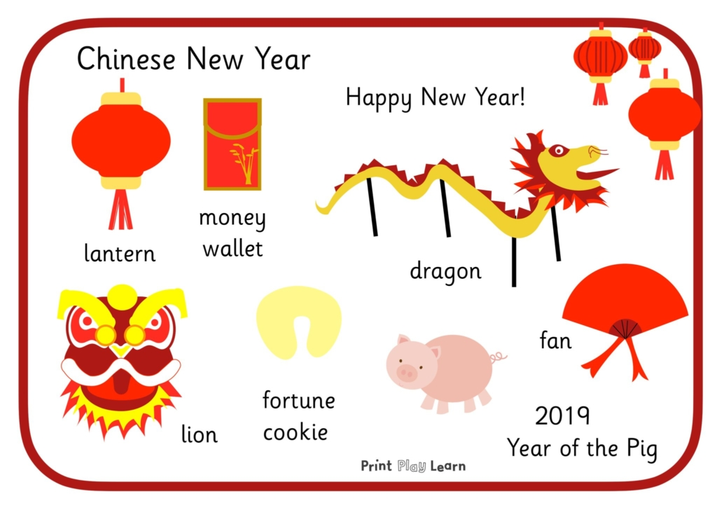 Chinese new year word mat 2019 early years EYFS