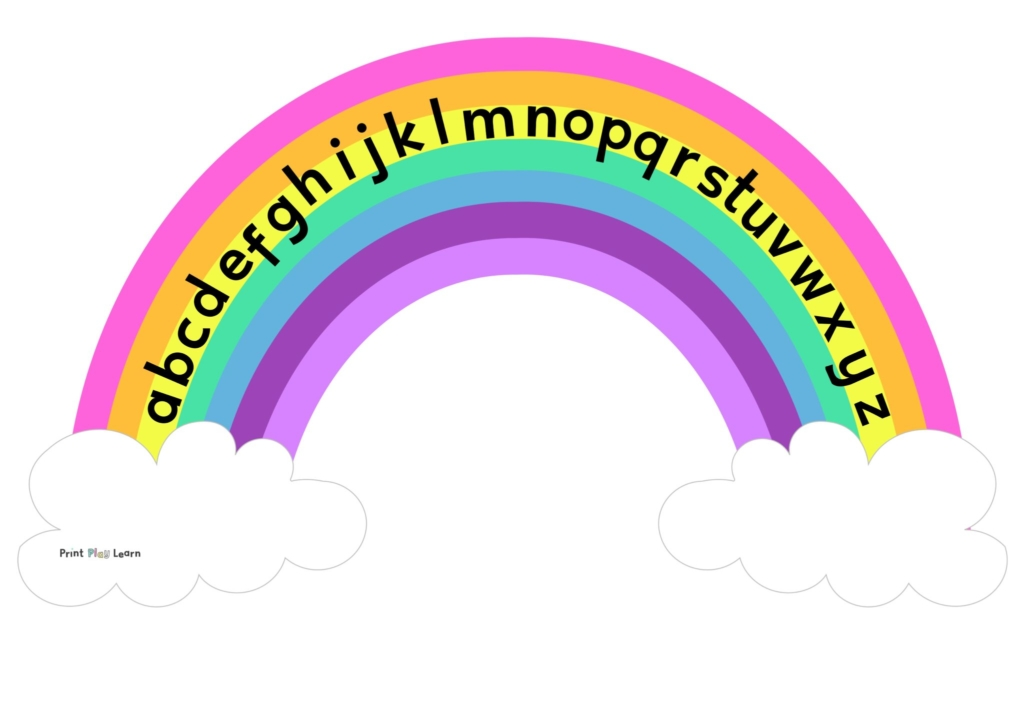 rainbow alphabet lower case