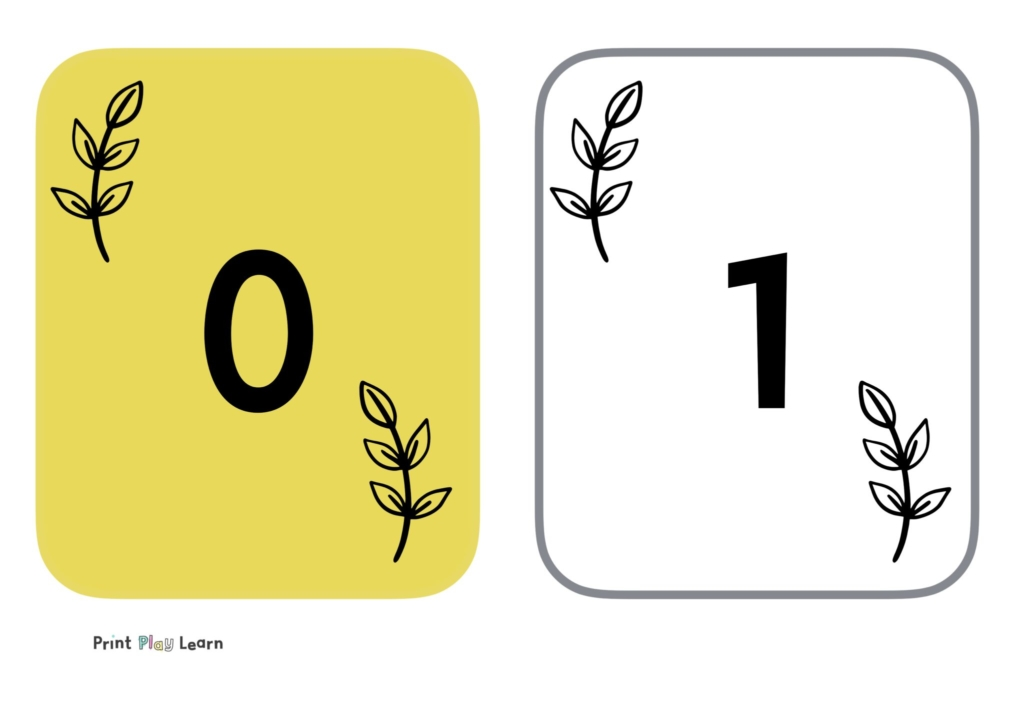 yellow flashcards one yellow one plain odd even numbers