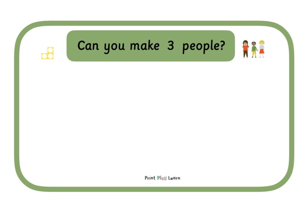 Making amounts border with title can you make number of people small amount print play learn