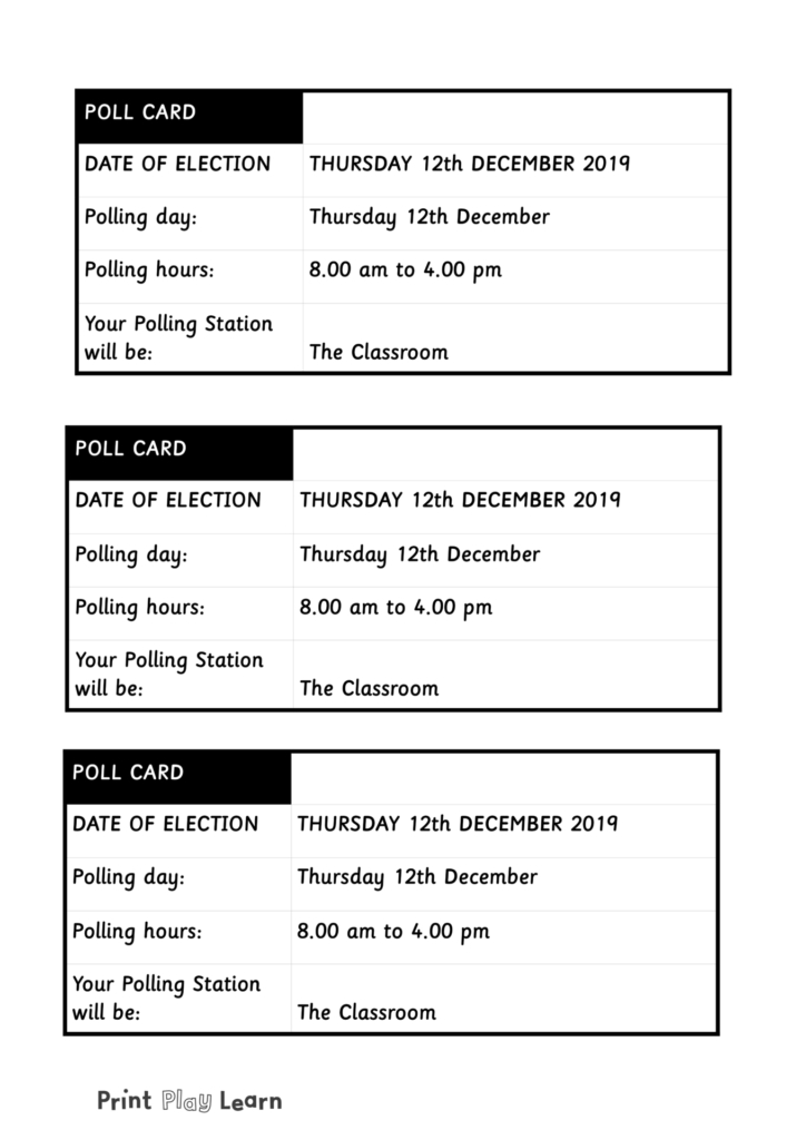 poling card election